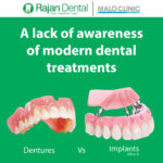 A lack of awareness of modern dental treatments